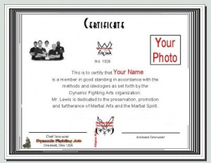 Certificate with your name